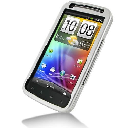PDair Aluminum Metal Hard Case for HTC Sensation 4G Z710e/HTC Sensation XE (Silver), Protective Armor Case