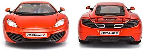 TYZXR 1:24 fundición a presión McLaren MP4-12C Modelo de Coche de aleación Puerta corredera Sonido y luz Tire hacia atrás Coche de Juguete: Amazon.es: Hogar