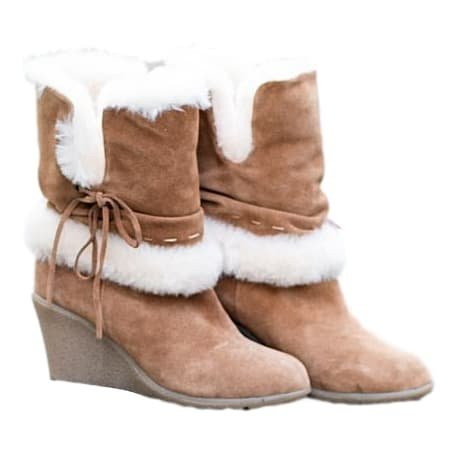 4baa157cc5d Sheepland Factory Seconds Pure Sheepskin Ladies Boots with Wedge Heel