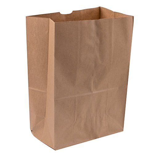 Duro Heavy Duty Kraft Brown Paper Barrel Sack Bag, 57 Lbs Basis Weight, 12 x 7 x 17, 100 Ct/Pack -