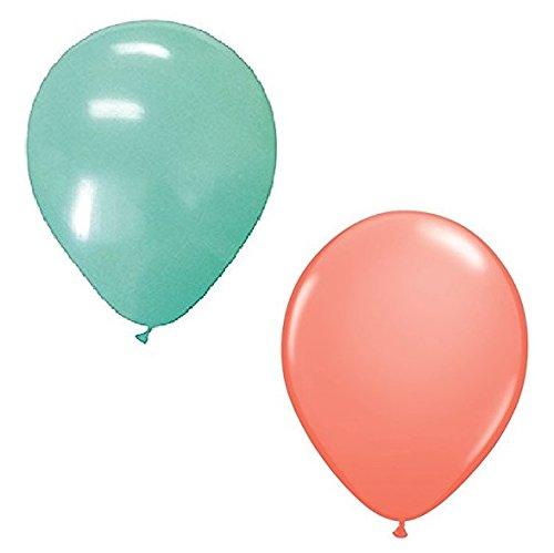 12ダークコーラルピンク& 12ミントグリーン(合計24のバルーン) 12