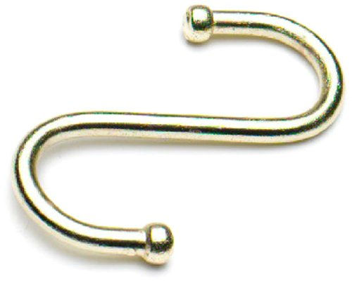 "Bulk Hardware BH01130 3"" Kitchen S Hooks,Gold Tone, Pack of 5, Brass, 5 Piece"