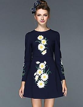 Mujer Vestidos Casual 2016 Verano Mujer ropa Otoño Invierno Moda Bordado Vintage Slim Plus vestidos de