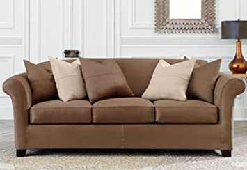 Amazon Com Ultimate Heavyweight Stretch Suede Sofa Slipcover Sure