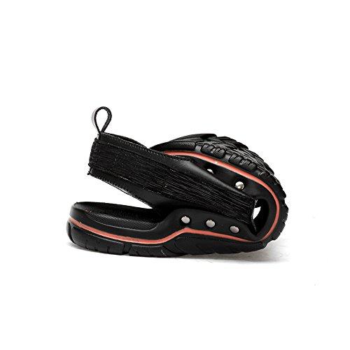 Fang--shoes, Sandals for Soft Men, Men's Genuine Leather Beach Slippers Casual Hook&Loop Soft for Sole Black Summer Sandals Parent B07D35L1MK 1af95d
