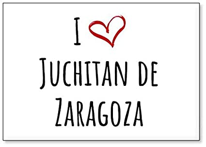 Amazon.com: I Love Juchitan de Zaragoza, fridge magnet ...