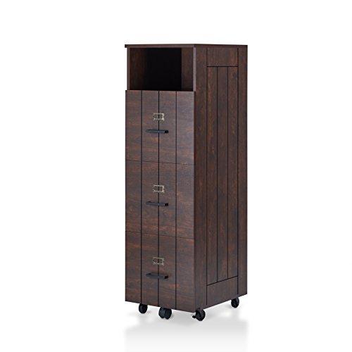 HOMES: Inside + Out HFW-1655C6 Gillian File Cabinet, Vintage Walnut