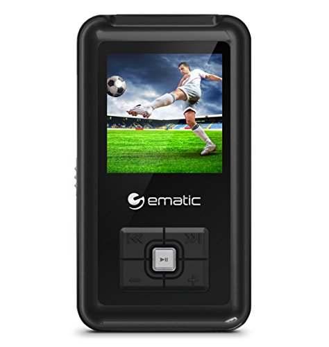 Ematic 8GB MP3 Video Player with FM Tuner/Recorder and 1.5-inch Color Screen, Black ()