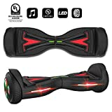 Hoverfly Tesla Style Hoverboards Luminescent Motor,Music-Rhythmed Hover Board for Kids and Adult,Two-Wheel Self Balancing Electric Scooter,UL 2272 Certified with Music Speaker,Colorful RGB LED Light