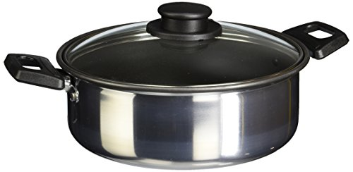 Vasconia 4007565 Cacerola 20Cm con Antiadherente y tapa de vidrio