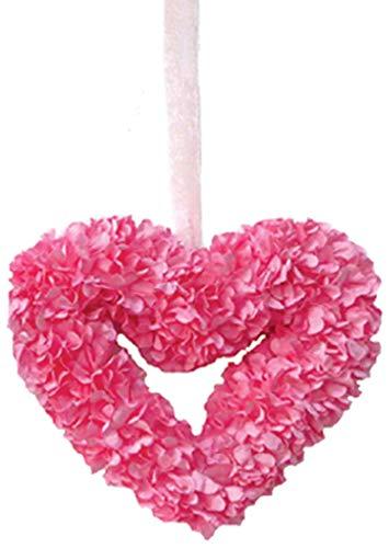 (FI Inc. Pink Heart Wreath, Valentine, Girl's Room, Wall Decor, Wedding, 9
