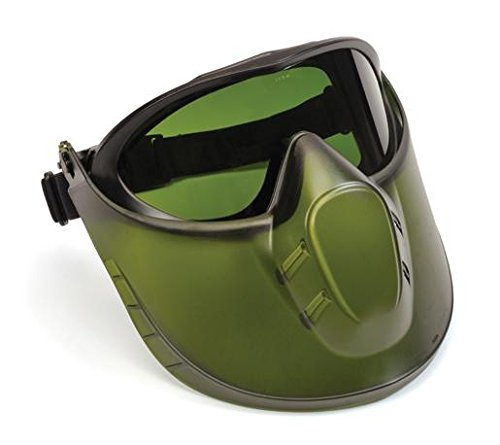 Pyramex Safety Direct/Indirect Goggle with IR5 Lens and Green Tinted Faceshield Attachment