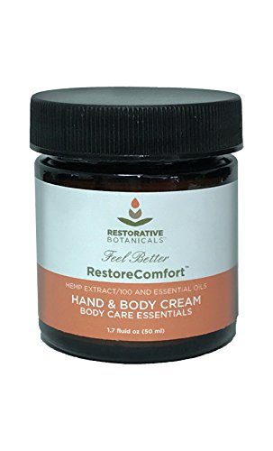 Restore Comfort 100 mg Hemp Oil Extract Warming Hand & Body Hemp Extract Essential Oil Relief Cream 50ml Restorative Botanicals (Comfort Body Oil)