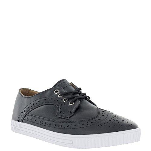 Vlado Footwear Hombres Parson Cuero De La Pu Wingtip Low Top Low Top Sneakers Black / White