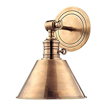 Beau Hudson Valley Lighting Garden City 1 Light Wall Sconce   Aged Brass Finish  With Aged