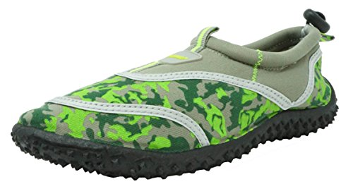 Fresko Kids Camo Water Shoes for Boys, B1337, Grey, 4 M US Little Kid