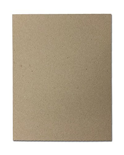 30pt 8'' x 10'' Brown Kraft Cardboard Chipboard (100 Pieces) by Desktop Publishing Supplies