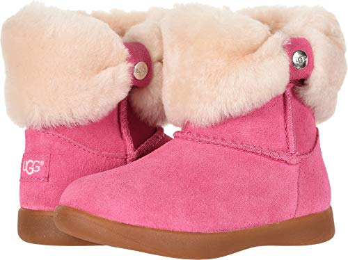UGG Girls' T Ramona Fashion Boot, Pink Azalea, 9 M US Toddler (Pink Bows Uggs)