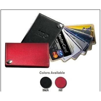 Amazon leather fan out businesscredit card holder with leather fan out businesscredit card holder with contrast stitching black reheart Choice Image