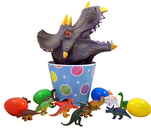 Dinosaur-Easter-Basket-with-Toy-Filled-Triceratops-Head-and-Eggs