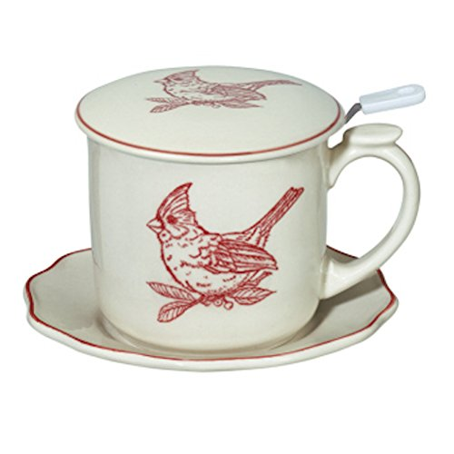 Andrea by Sadek Red Cardinal Covered Coffee Mug