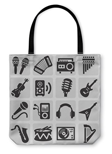 Gear New Shoulder Tote Hand Bag, Musical Instruments, 13x13, 6061825GN