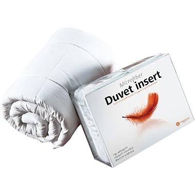 Hospitology Heavenly Microfiber Goose Down Alternative Duvet Insert / Comforter, 90-Inch by 94-Inch, Queen