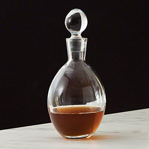 Retro Egg Shape Glass Liquor Decanter | Bottle Mid Century Modern Round Globe