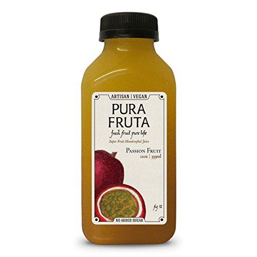 Pura Fruta Cold-Pressed Passion Fruit Juice 12oz., Pack of 6 (Passion Fruit Tart)