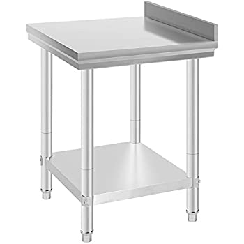 commercial kitchen work tables gridmann stainless steel prep table bench inch food restaurant