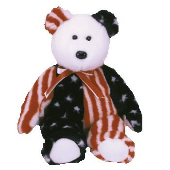 (Ty Beanie Babies Spangle The Bear (White Head Version))