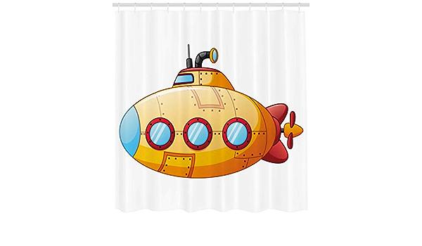 W Gris x180cm con 12 ganchos impermeable Cortinas de ducha con dise/ño de drag/ón gris en el mar 180 x 180 cm 165cm L Mezcla de poli/éster.