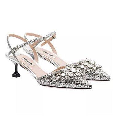 Zormey La Mujer De Verano Casual Pu Slingback Heels Silver Silver Us8 / Ue39 / Uk6 / Cn39 US6 / EU36 / UK4 / CN36