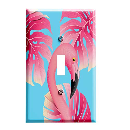 Flamingo Switchplate - In the Pink Flamingo Switch Plate - Switchplate Cover - 1 toggle