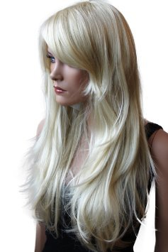 PRETTYSHOP Wig Long Hair Straight Party Cosplay Variation (Light Blonde Wig)