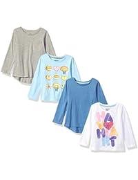 Girls' Toddler & Kids 4-Pack Long-Sleeve T-Shirts