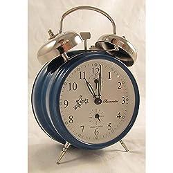 Sternreiter Mechanical Double Bell Alarm Clock - Blue MM 111 602 36