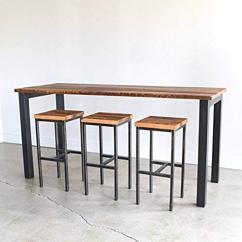 Pub Height Reclaimed Wood Kitchen Table ... - Amazon.com