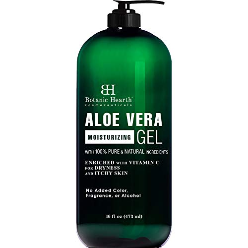- Botanic Hearth Aloe Vera Gel - From 100% Pure and Natural Cold Pressed Aloe Vera, 16 fl oz
