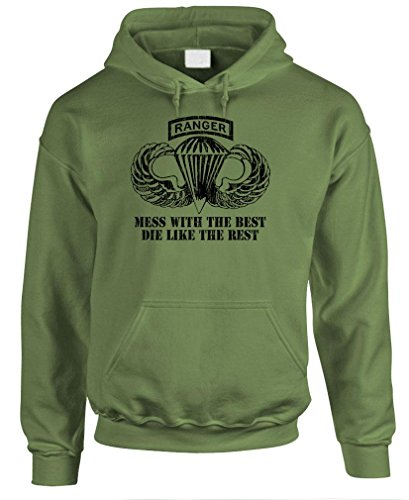 Airborne Ranger - Army Special Forces Fight - Mens Hoodie, L, Military
