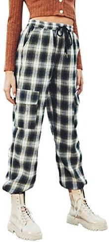 Romwe Women's Workout Jogger Pants High Waist Lightweight Hiking Outdoor Cargo Sweatpants