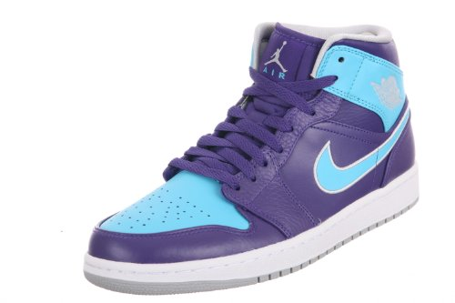 Nike Jordan Men's Air Jordan 1 Court Purple/Mtlc Pltnm/Gm...