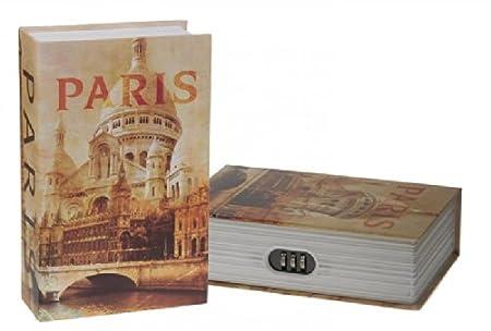Book Safe Box Paris 18x11x5 Cm Amazon Co Uk Kitchen Home