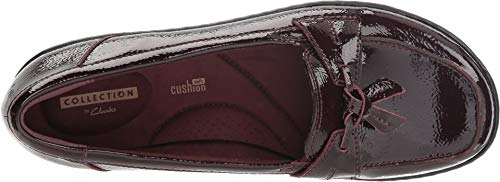 Image of CLARKS Women's Ashland Bubble Burgundy Patent Leather 9 D US D - Wide