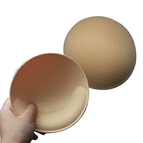 TopBine Round Padding For Bra Yoga Sports Replacement Bra Pads Inserts (beige, -