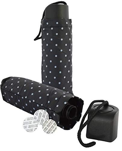 BoozeBrella by Smuggle Mug. Disguised 9 Ounce Umbrella Flask(Black w/ White Dot)