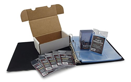 (Hobbymaster Football Card Collecting Starter Kit - Album, Pages, Sleeves, Toploaders, Mini-Snap Holders and Storage Box to store and protect your sports card collection)