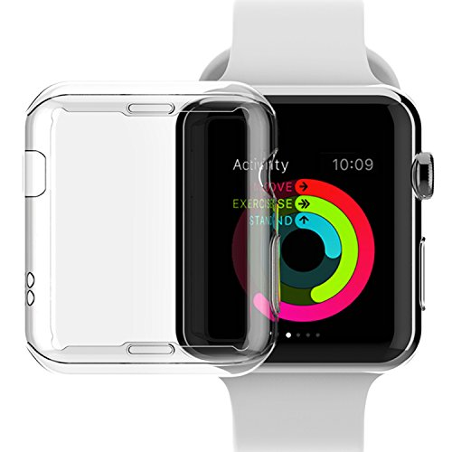 Price comparison product image Apple Watch Series 2 42mm Case,  NSR Apple Watch TPU Screen Protector All-around Protective 0.3mm HD Clear Ultra-thin Cover Case for iWatch 42mm