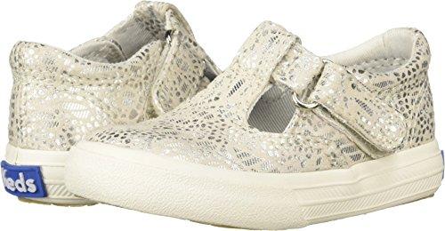 Keds Girls' Daphne Sneaker, Silver Print, 11.5 M US Little Kid -