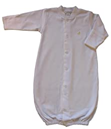 Kissy Kissy Baby Homeward Bound Chicks Embroidered Convertible Gown-Small